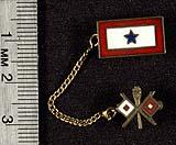 1 star son in service pin with Army Signal Corps pin attached