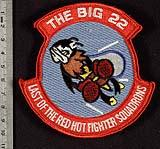 22d Fighter Squadron shoulder sleeve insignia