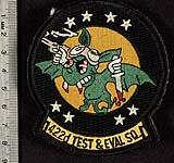 422d Test and Evaluation Squadron shoulder sleeve insignia