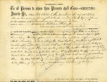 Warranty Deed for sale of land to William Prior Jr. for 625 dollars